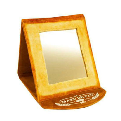 Bread Foldable Mirror : Japanese beauty and lifestyle products - ideal for Japanese gifts and lovers of cool Japanese gadgets!